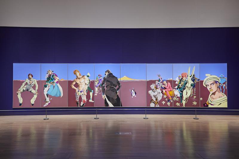 本展のために描き下ろされた新作大型原画「裏切り者は常にいる」©︎荒木飛呂彦&LUCKY LAND COMMUNICATIONS/集英社