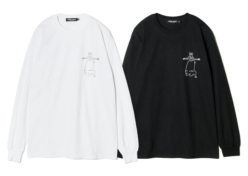 ロングスリーブTシャツ(ホワイト/ブラック)¥8,000