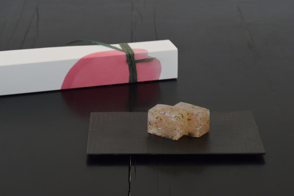 「桜の道明寺羹」¥2,200 販売期間:〜4月下旬 販売店舗:HIGASHIYA GINZA、HIGASHIYA man、HIGASHIYA man 丸の内、HIGASHIYAオンラインショップ