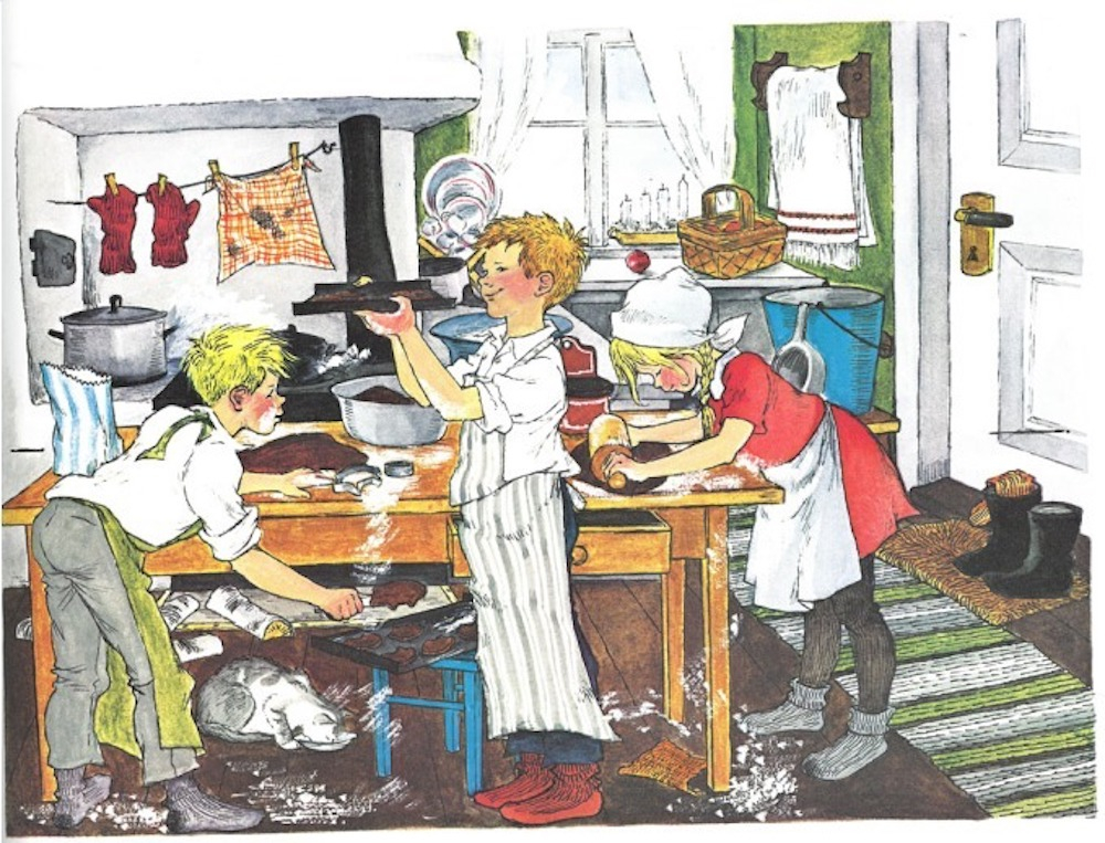 イロン・ヴィークランド「『やかまし村のクリスマス』挿絵原画」 1961年 アストリッド・リンドグレーン社(スウェーデン)所蔵 Illustration Ilon Wikland ©Ilon Wikland. Courtesy of The Astrid Lindgren Company