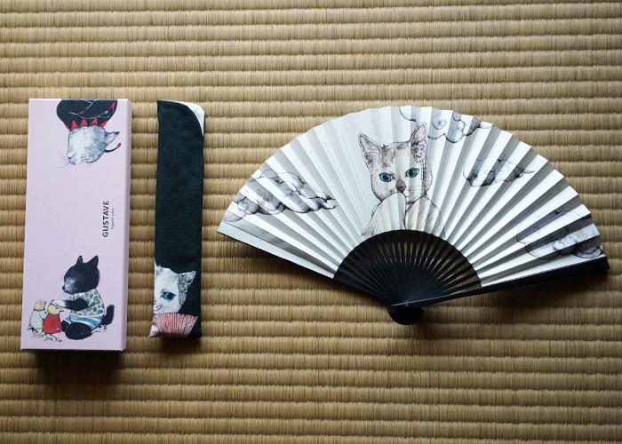 創業300年の歴史を持つ京扇子の老舗「白竹堂」とのコラボによる京扇子「小春扇子」¥6,500