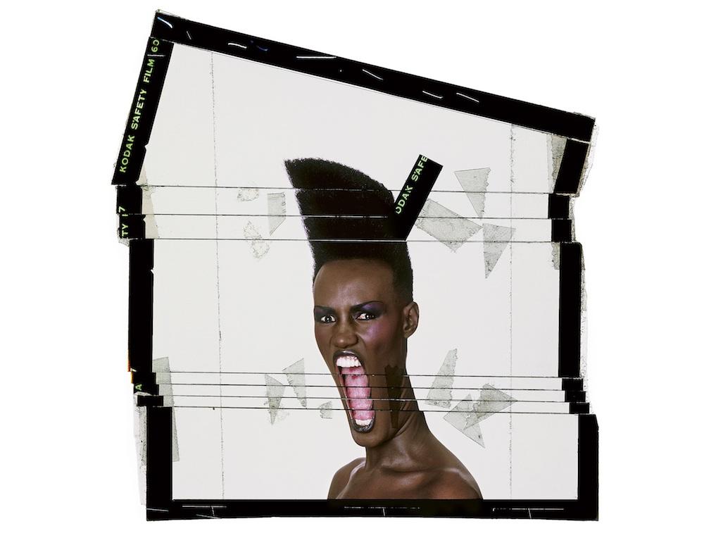 Slave to the rhythm, cut-up transparancy, Paris, 1986 ©️Jean-Paul Goude