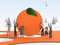 大切な人へのメッセージをオレンジに託して。「エルメスのオレンジクリスマス」、期間限定公開中