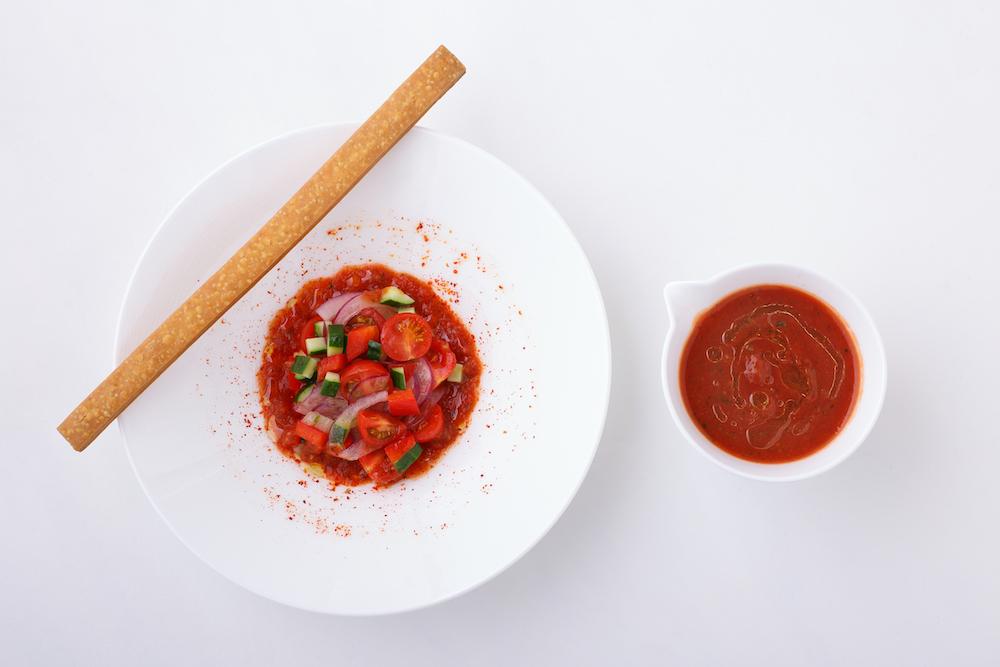 トマトのガスパチョ、サブレ パルメザン ¥0,000
