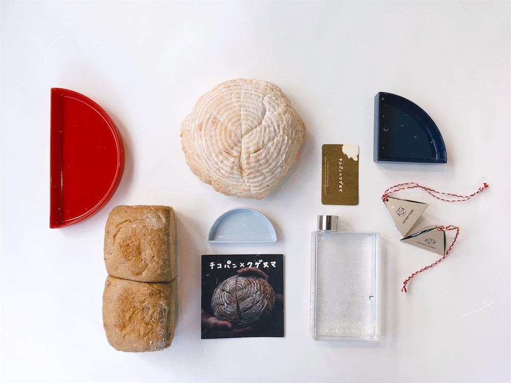 「パピエ ティグル」のアイテムとともに「チコパン×クゲヌマ」のパンも買える。入荷は毎週火曜日。