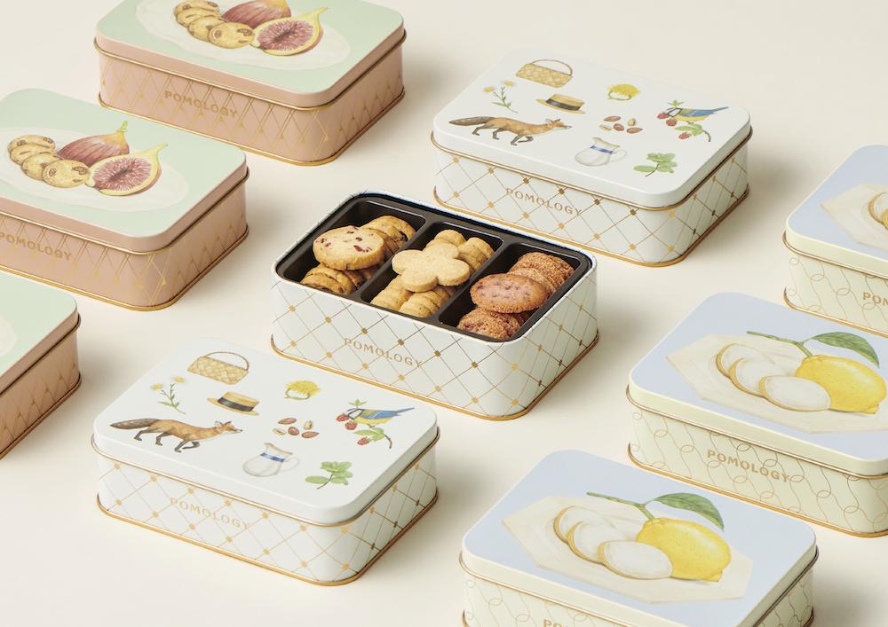 左から「クッキーボックス フィグ」「クッキーボックス ベリーズ」各 ¥1,600、「クッキーボックス レモン」¥1,500