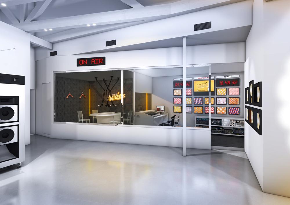 エルメスのメンズの世界観を体感できる世界で唯一の「ラジオエルメス」ポップアップ・ラジオステーション。