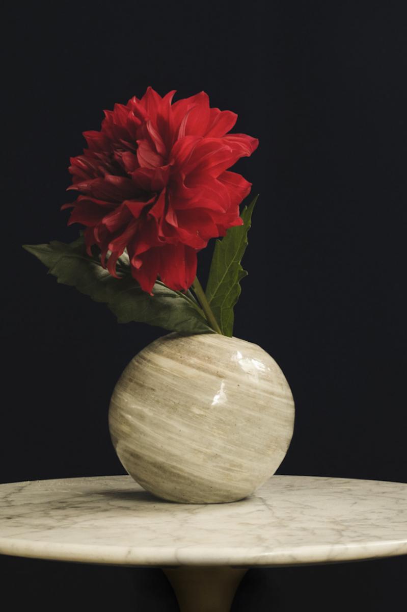 「鏡山窯 刷毛目唐津 L」(約Φ165mm)¥20,000