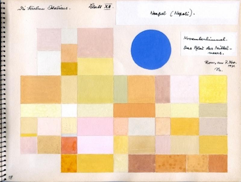 オットー・ネーベル 《ナポリ》『イタリアのカラーアトラス(色彩地図帳)』より、1931年、インク、グアッシュ・紙、オットー・ネーベル財団