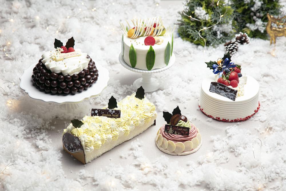左上から時計回りに:「ドームチョコレート」(12cm)¥4,000、「ブリーチーズケーキ」(12cm)¥3,900、「ショートケーキ」(12cm)¥4,100、