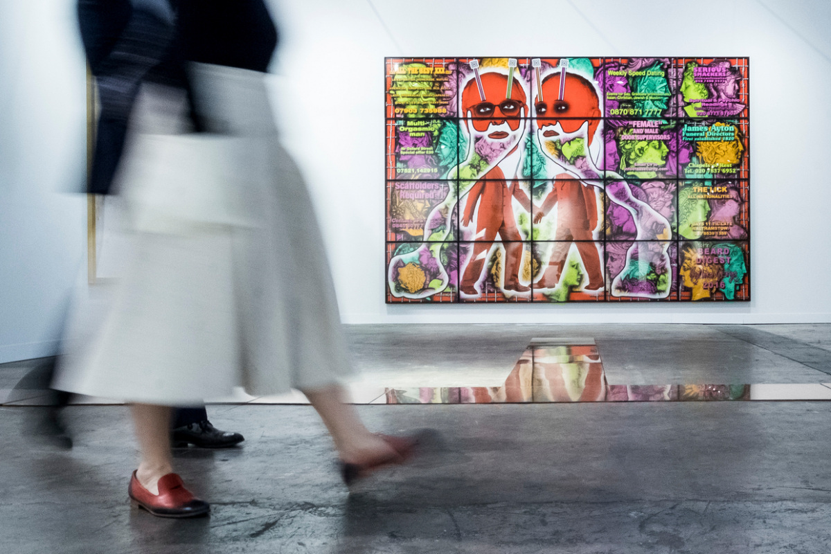 オンラインを通じてさまざまなアートに触れられる機会が生まれたのは嬉しい限り。写真はギルバート&ジョージの作品。Alfonso Artiaco © Art Basel