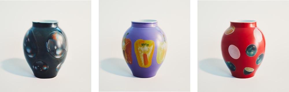 「Tsubo Vase」デザイン3種 各¥65,000