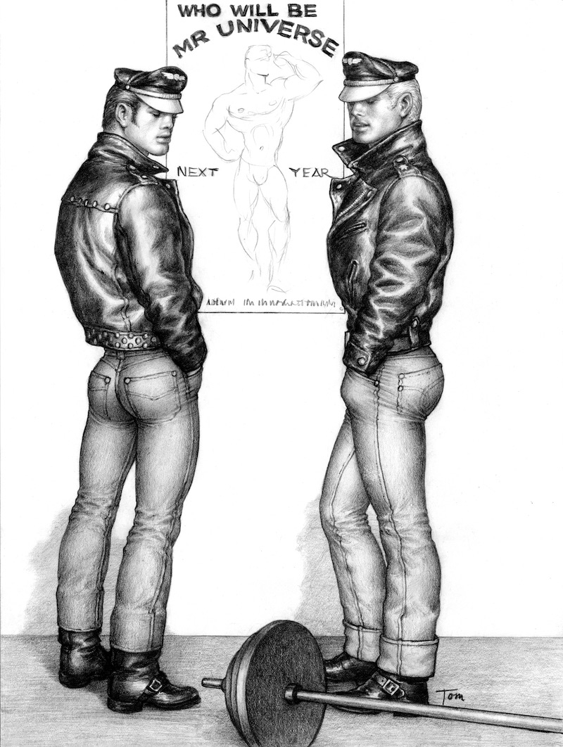 TOM OF FINLAND (Finnish, 1920-1991), Untitled, 1963, Graphite paper, 12.44 in. x 9.38 in., Tom of Finland Foundation permanent collection, © 1963 - 2020 Tom of Finland Foundation