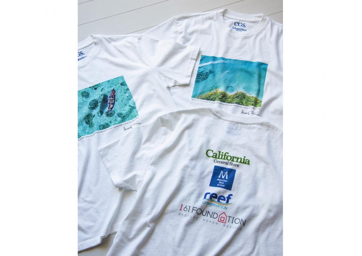 オーガニックコットン100%の「モーリシャス・ブルー・アクション」プロジェクト支援Tシャツ ¥5,500 ※9月下旬入荷予定