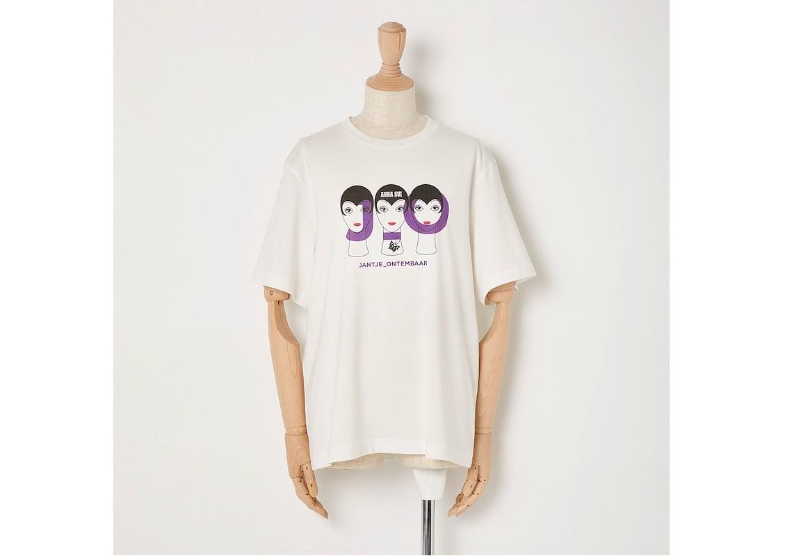 アナ スイのお馴染みのイラストを胸に配置した、シンプルなTシャツも登場。