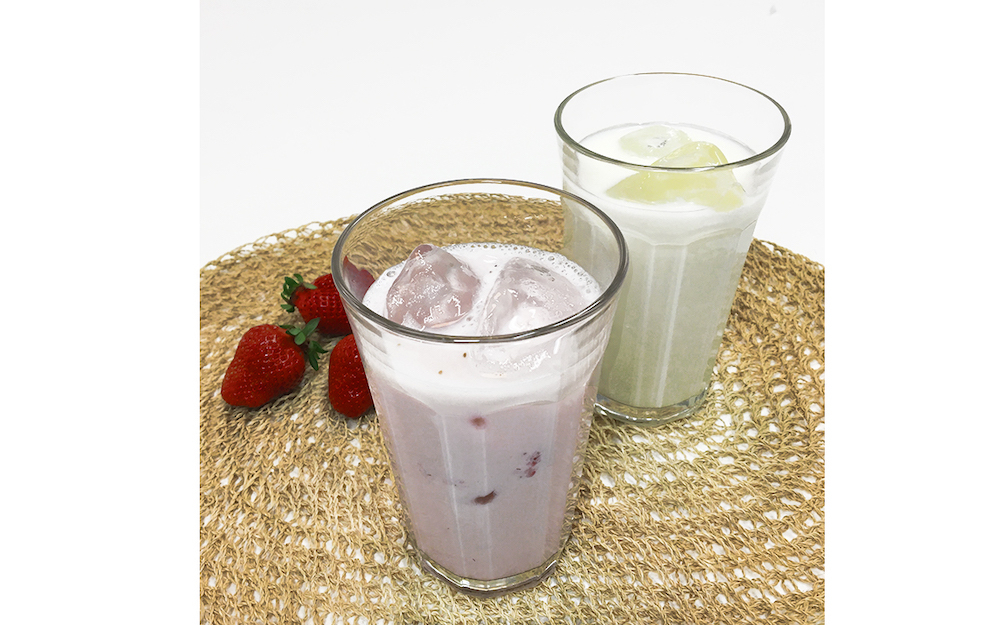 Café&Meal MUJIの6店舗では「いちご牛乳」「牛乳」を期間限定で提供。