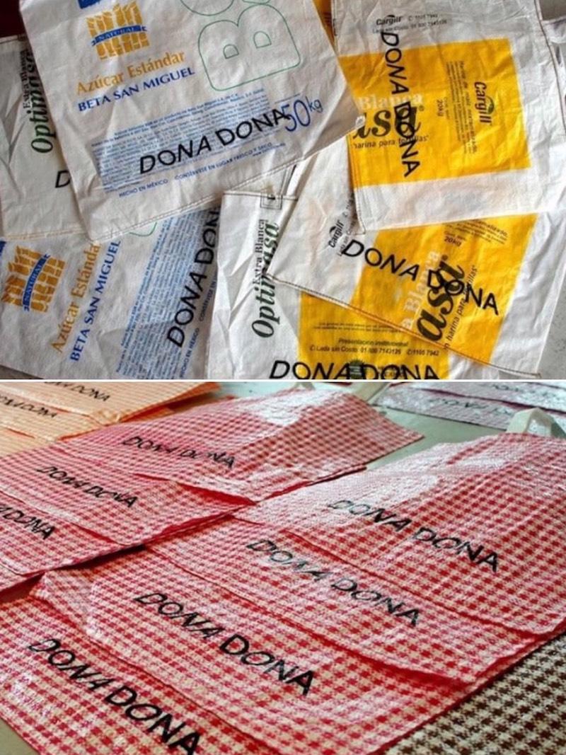 メキシコ生まれのさまざまなマルシェバッグには「DONADONA」のロゴを入れて。