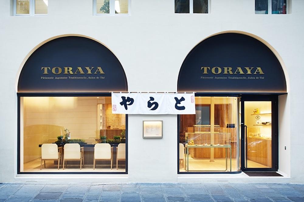 クラフトマンシップを表現した「とらや パリ店」の内装は建築家の田根剛が担当。