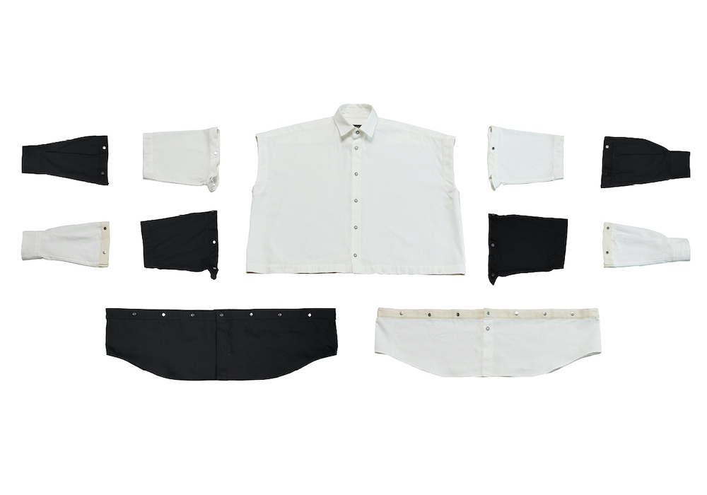 「ANREALAGEXIT BLOCK SHIRTS WITH PARTS」¥35,000