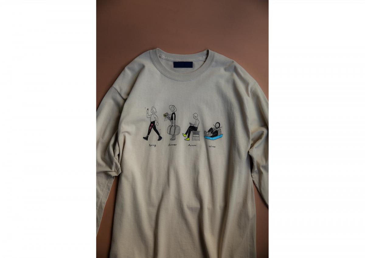 ロングスリーブTシャツ(Sand/S, M, L, XL)¥6,500