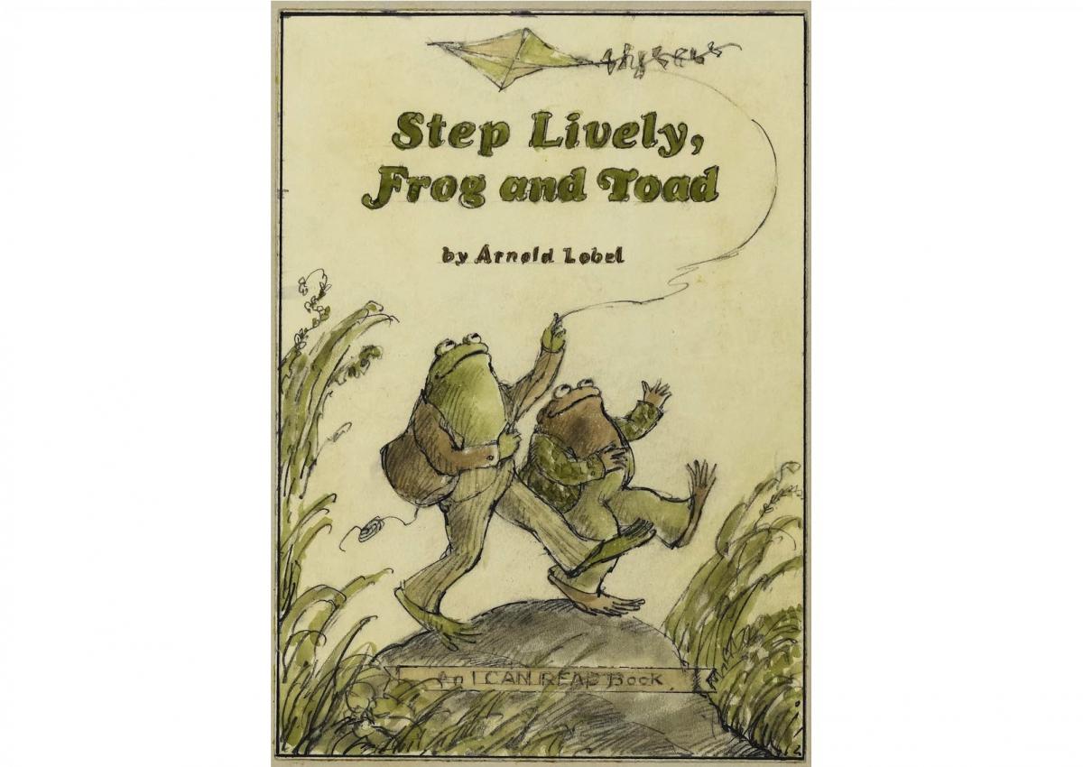 『ふたりはきょうも』(1979)表紙下絵Courtesy of the Estate of Arnold Lobel. © 1979 Arnold Lobel. Used by permission of HarperCollins Publishers.
