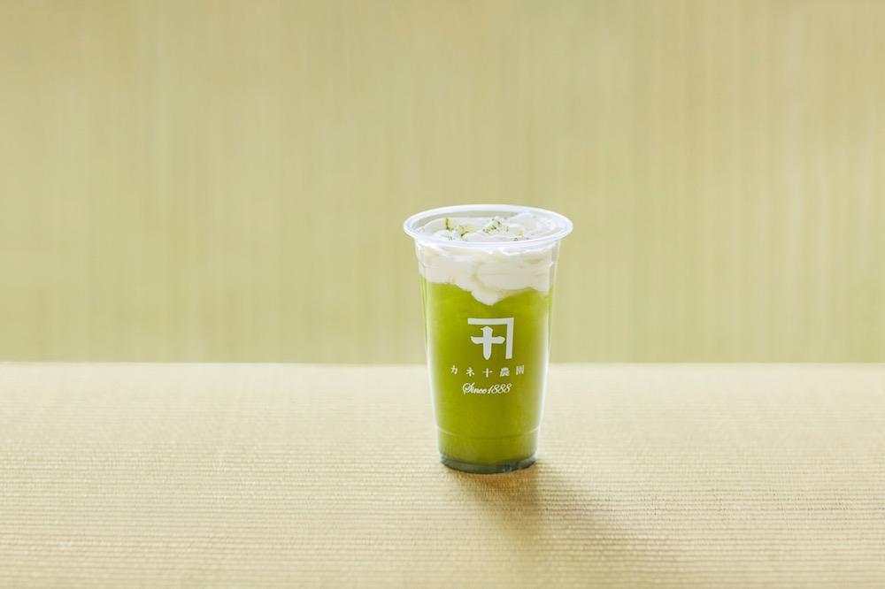 「一番茶チーズホイップティー」カネ十煎茶 ¥648、カネ十焙じ茶 ¥555、カネ十アールグレイ ¥694、ラテスタイル ¥694、桜煎茶 ¥694