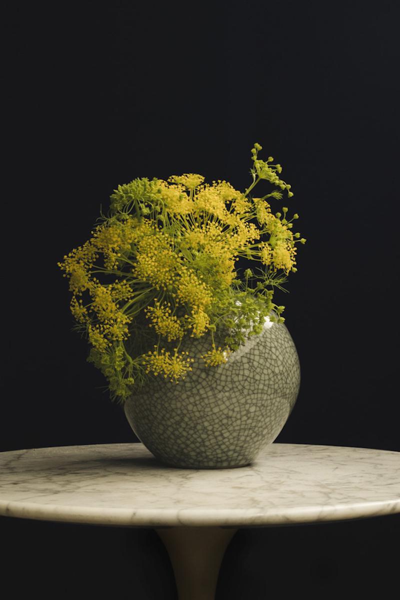 「鍋島虎仙窯 青瓷 貫入 L」(約Φ165mm)¥16,000