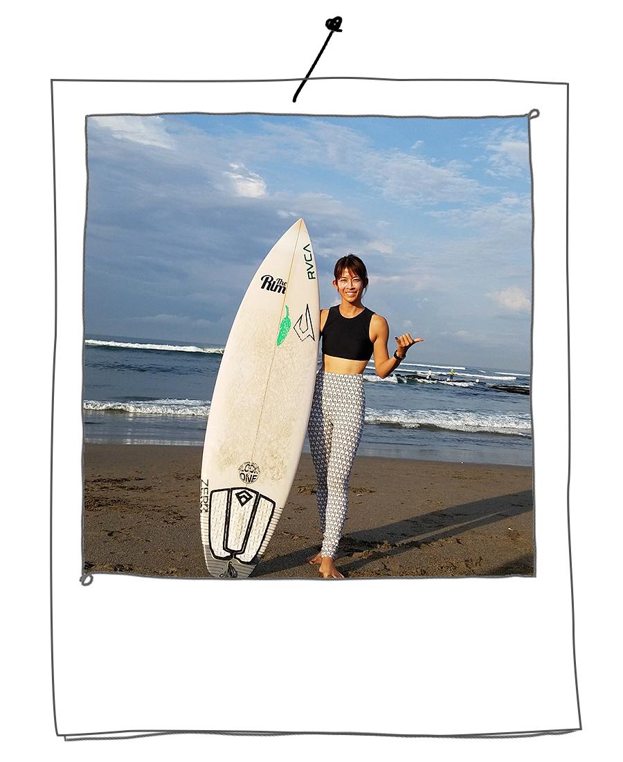 サーフィンで全身の筋肉をフル稼働