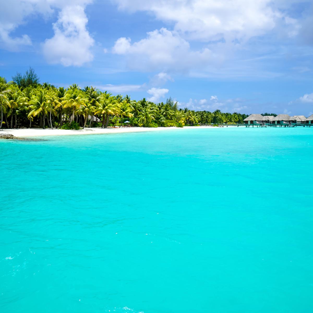 ずーっと眺めていてもまったく飽きない! ラグーンが素晴らしく美しい、ボラボラ島。タヒチはアイランドホッピングもおすすめだそう。