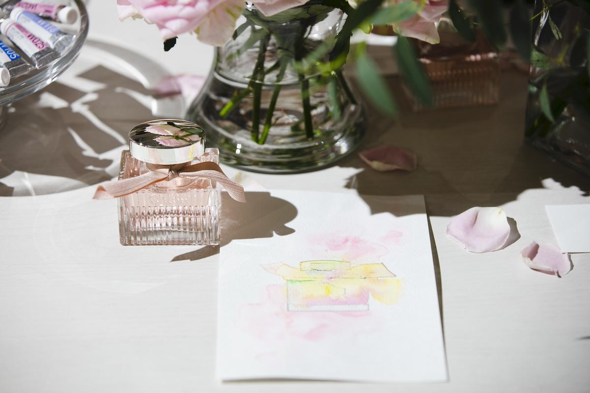 みずみずしい香りは、繊細な水彩画のイメージにぴったり