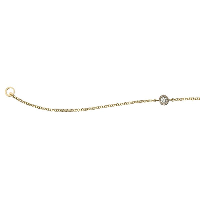 ブレスレット〈Pt、グリーンゴールド、ダイヤモンド〉 ¥90,000/hum JINGUMAE atelier&sho(p hum)