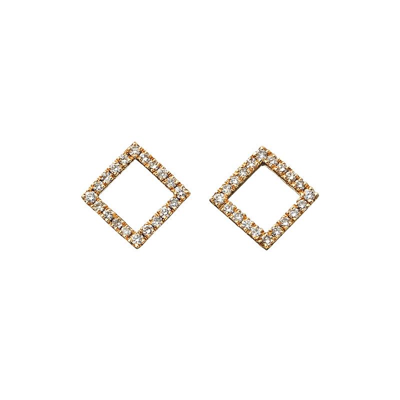 ピアス〈YG、ダイヤモンド〉¥125,000/ショールーム セッション(マリハ)