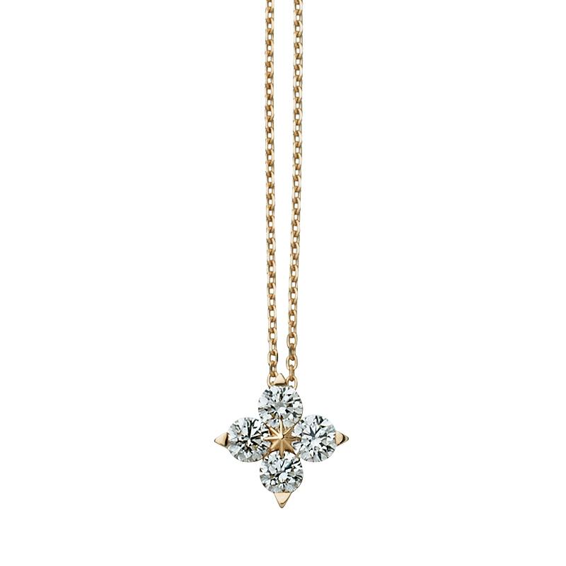 """""""BRIGHTEST STAR""""ネックレス〈K18YG、ダイヤモンド〉¥160,000/スタージュエリー表参道店(スタージュエリー)"""