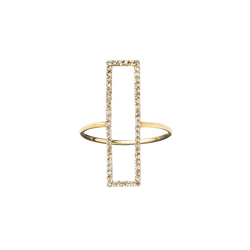リング〈K14YG、ダイヤモンド〉¥140,000/TOMORROWLAND 渋谷本店 (アレクサンドラ・ムサリー)