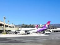 ハワイアン航空のロゴが好きすぎる、ので、機内販売でグッズをバイイング!