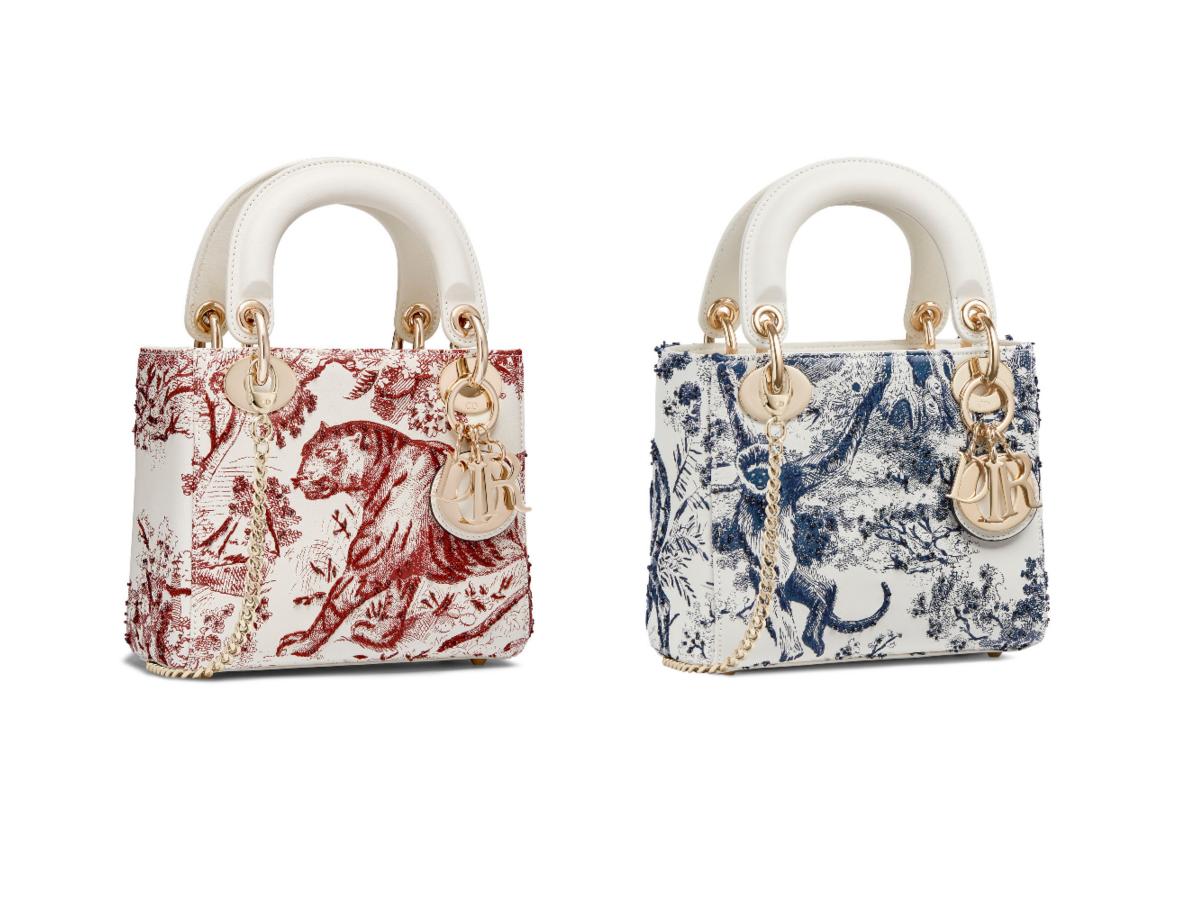 (左)バッグ「ブックトート」¥320,000(右)「LADY DIOR」ミニバッグ¥400,000/クリスチャン ディオール