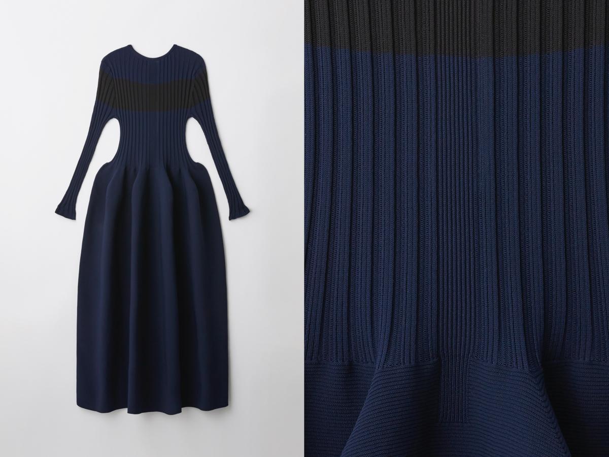 POTTERY DRESS(NAVY)¥68,200(※伊勢丹限定アイテム)/CFCL