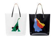 恐竜のトートバッグも! マルニがイタリアのアニメーター、ブルーノ・ボゼットとコラボレーション