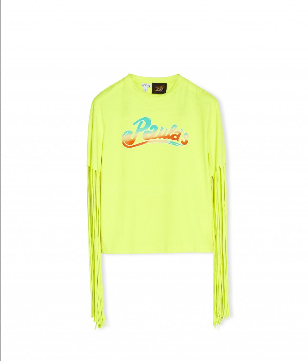 フリンジ スリーブ Tシャツ ¥70,000/ロエベ ジャパン クライアントサービス