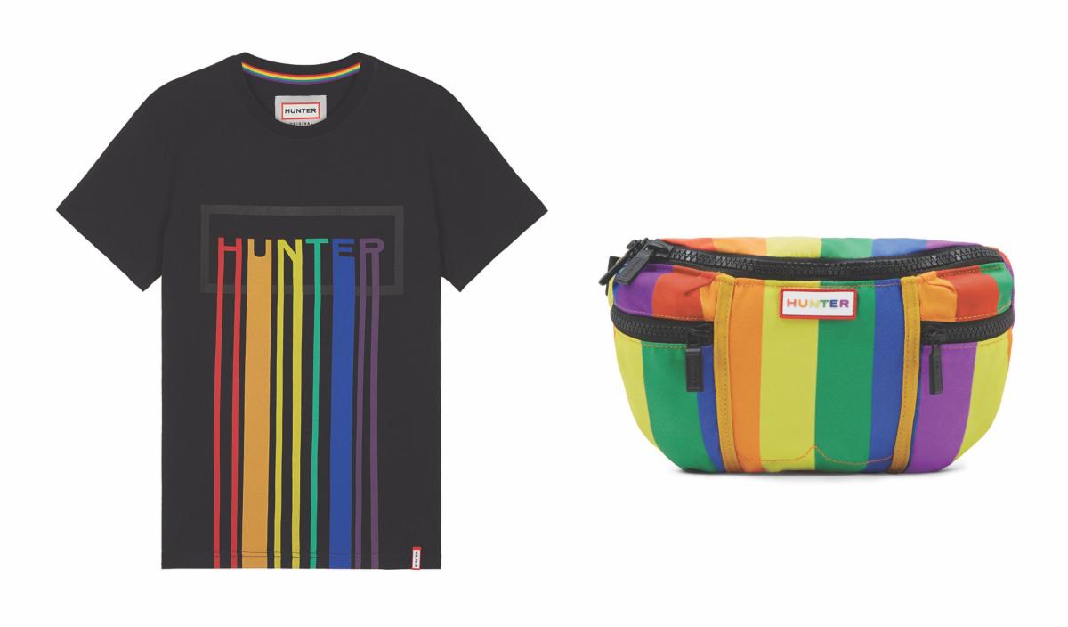 Tシャツ ¥8.000、バムバッグ ¥7.000/ハンタージャパン カスタマーサービス
