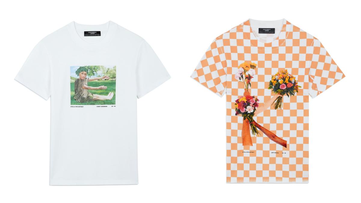 「A to Z」Tシャツ 各¥66,000/ステラ マッカートニー カスタマーサービス(ステラマッカートニー)