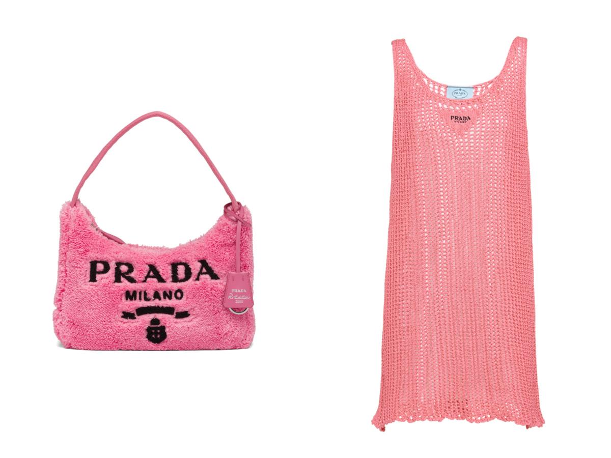 (左より)バッグ ¥125,400、ドレス ¥206,800(予定価格)/プラダ クライアントサービス