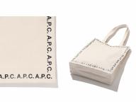 ロゴデザインが新鮮! ビームス ライツが別注した、A.P.C.のトートバッグ2種が登場