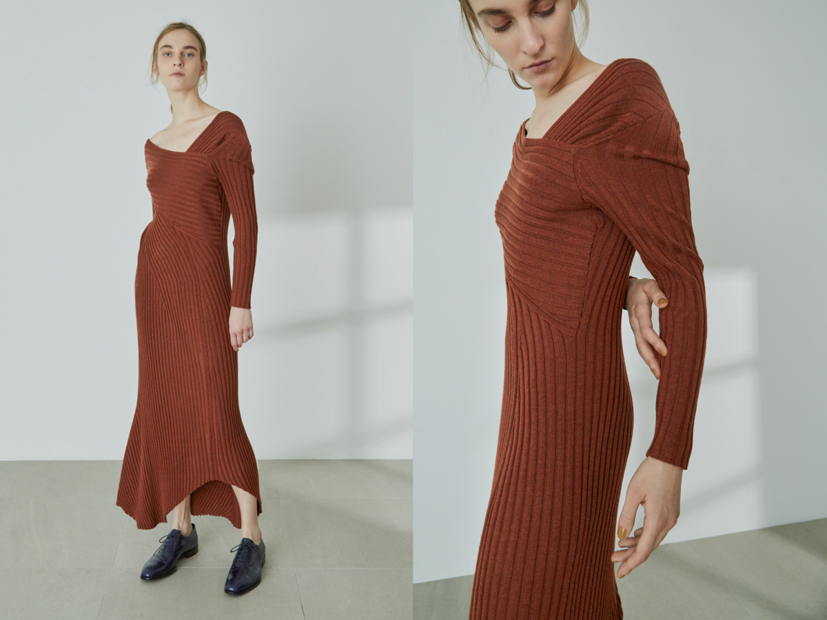 Open Back Knit Dress ¥24,000/スタイリング/ ルミネ新宿1店(スタイリング/)
