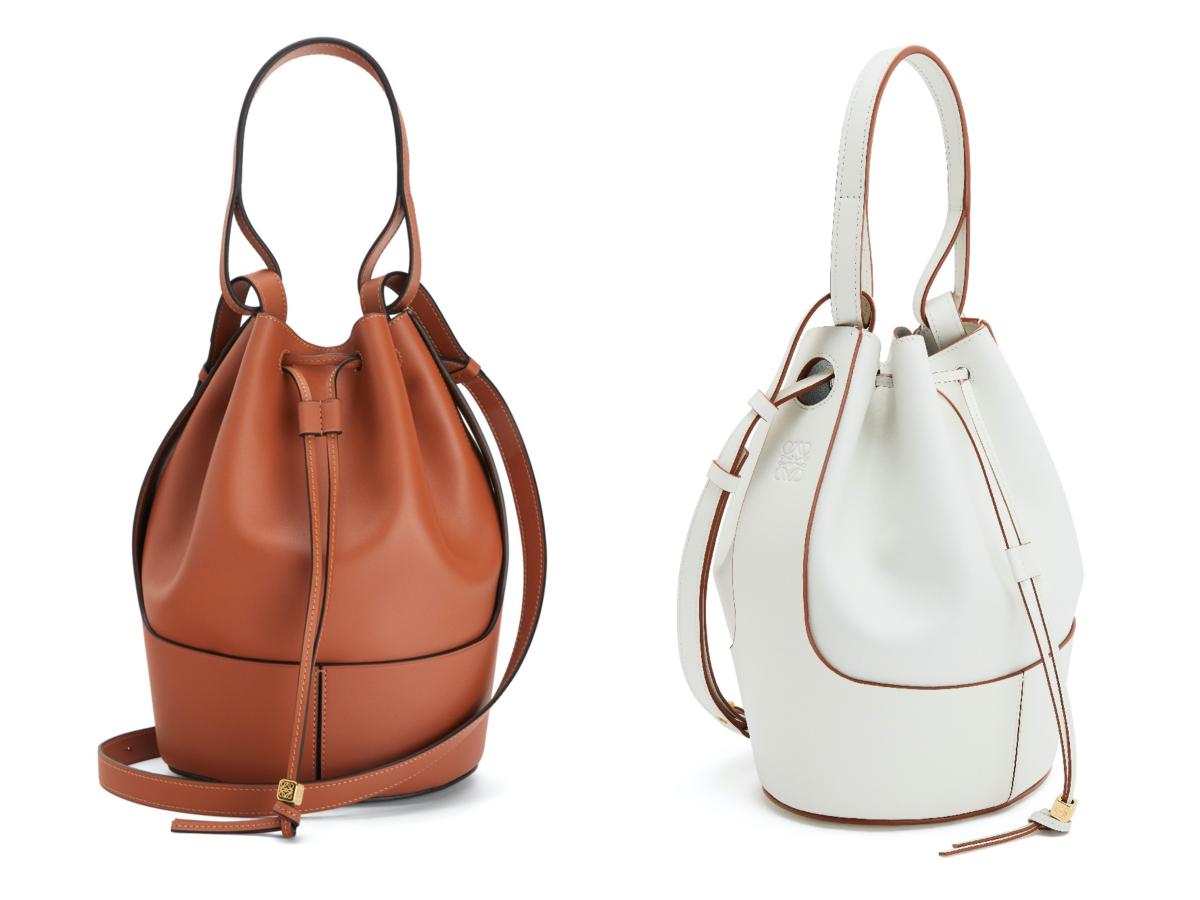 「バルーン バッグ」ミディアム(左:タン、右:ソフトホワイト) (W21.5×H31×D16cm)¥283,000/ロエベ ジャパン カスタマーサービス