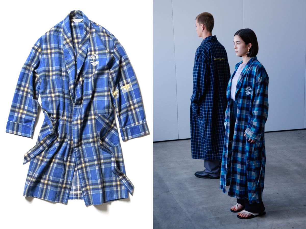 ヴィンテージカスタム ガウンシャツ ¥18,000/キヨナガアンドコー(Mame Kurogouchi for KIYONAGA&CO.)