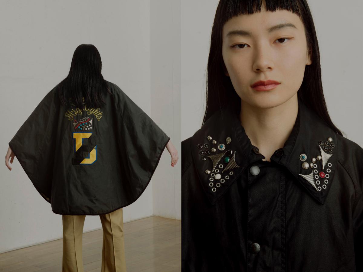 ジャケット「LOCK WAX CAPE」¥108,000(直営店限定)/TOGA 原宿店(TOGA PULLA × Barbour)