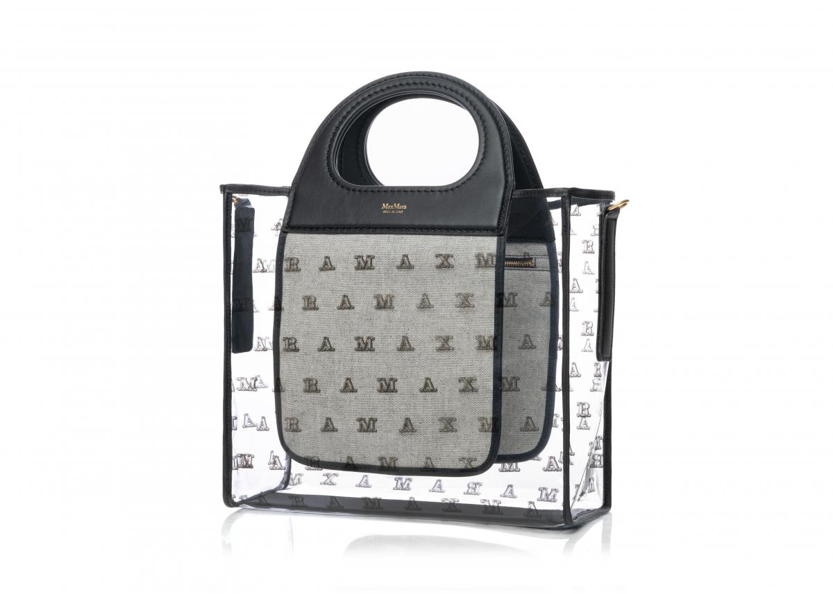 マックスマーラグラム バッグ〈H27cm×W39cm×D12cm〉¥45,000(※阪急うめだ本店限定、ブラック、ブラウンの2色展開)/マックスマーラ