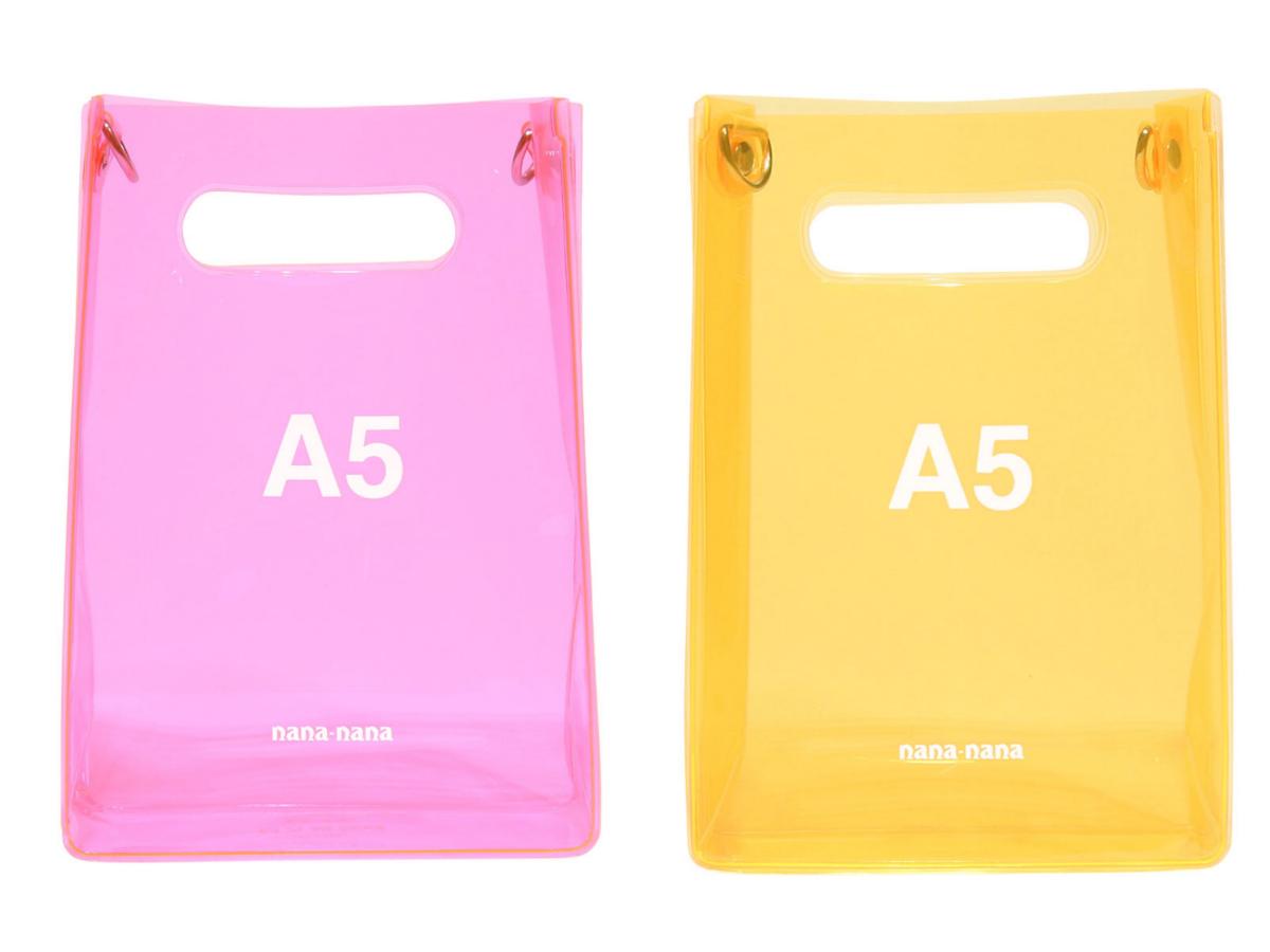 PVC A5〈W14.8×H21×D6.5cm〉¥6,000/ナナナナ