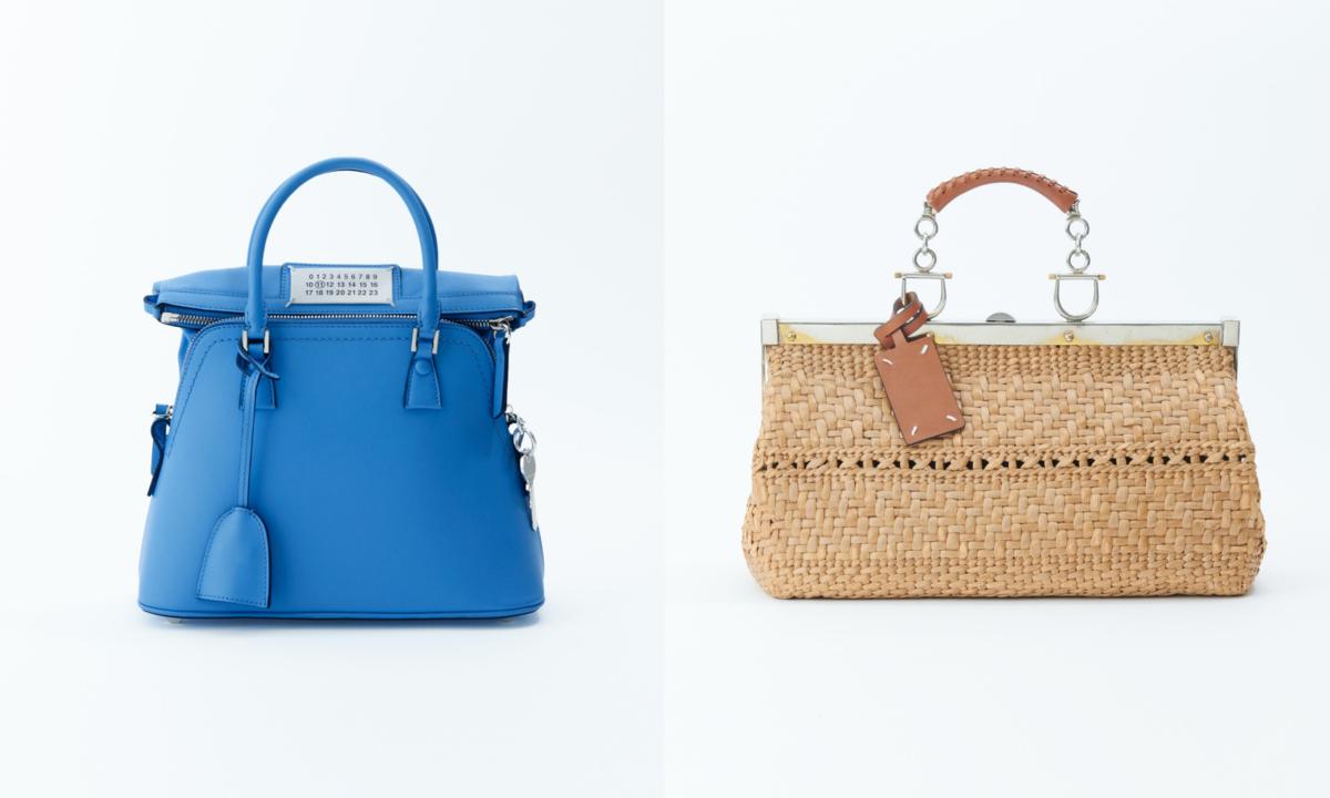 (左より)「5AC」バッグ(H×W×Dcm)¥252,000、Wicker bag¥190,000